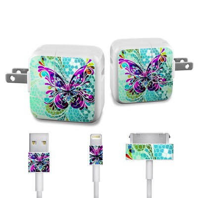 Apple iPad Charge Kit Skin - Butterfly Glass