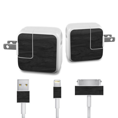 Apple iPad Charge Kit Skin - Black Woodgrain