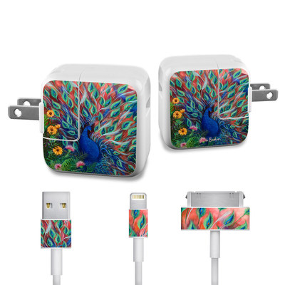 Apple iPad Charge Kit Skin - Coral Peacock