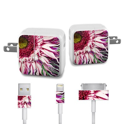 Apple iPad Charge Kit Skin - Crazy Daisy