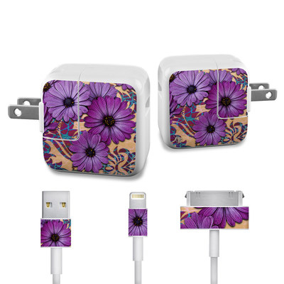 Apple iPad Charge Kit Skin - Daisy Damask