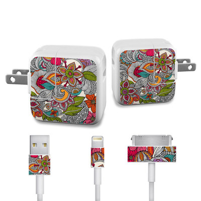 Apple iPad Charge Kit Skin - Doodles Color