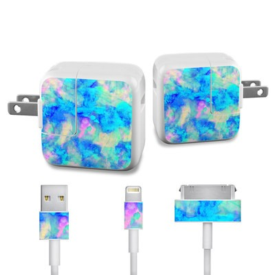 Apple iPad Charge Kit Skin - Electrify Ice Blue