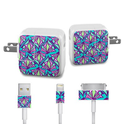 Apple iPad Charge Kit Skin - Fly Away Teal