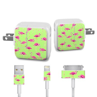 Apple iPad Charge Kit Skin - Flamingo Day