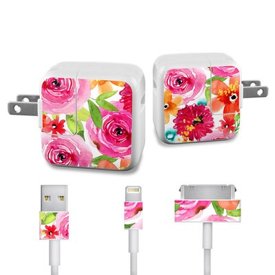 Apple iPad Charge Kit Skin - Floral Pop