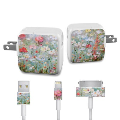Apple iPad Charge Kit Skin - Flower Blooms