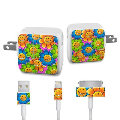 Apple iPad Charge Kit Skin - Happy Daisies