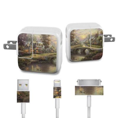 Apple iPad Charge Kit Skin - Sunset On Lamplight Lane