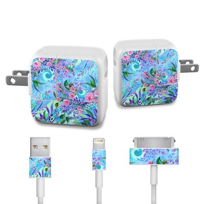 Apple iPad Charge Kit Skin - Lavender Flowers
