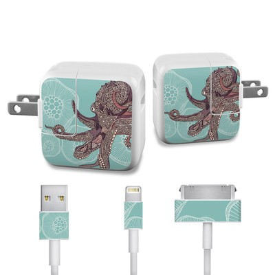 Apple iPad Charge Kit Skin - Octopus Bloom