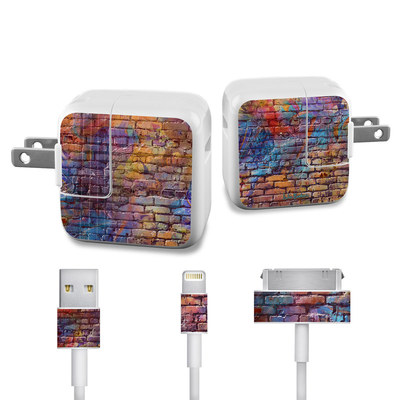 Apple iPad Charge Kit Skin - Painted Brick