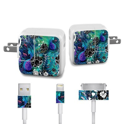 Apple iPad Charge Kit Skin - Peacock Garden