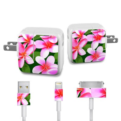 Apple iPad Charge Kit Skin - Pink Plumerias