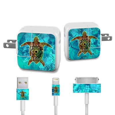 Apple iPad Charge Kit Skin - Sacred Honu