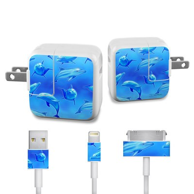 Apple iPad Charge Kit Skin - Swimming Dolphins
