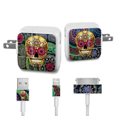 Apple iPad Charge Kit Skin - Sugar Skull Paisley