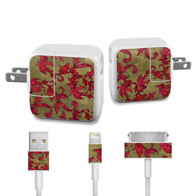 Apple iPad Charge Kit Skin - Vintage Scarlet