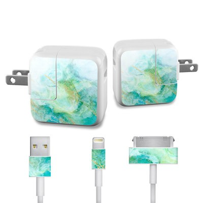 Apple iPad Charge Kit Skin - Winter Marble