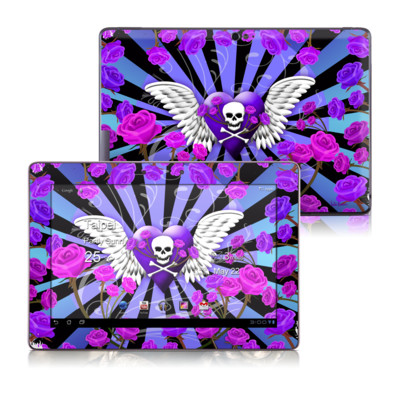 Asus Transformer TF700 Skin - Skull & Roses Purple