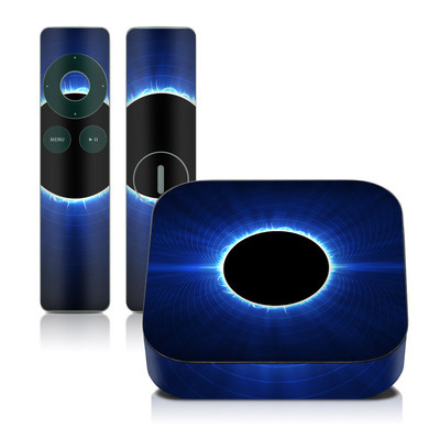 Apple TV 2G Skin - Blue Star Eclipse