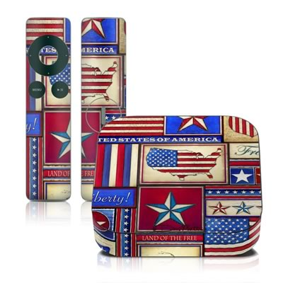 Apple TV 2G Skin - Flag Patchwork