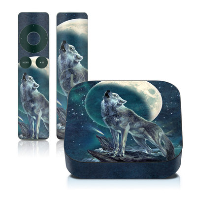 Apple TV 2G Skin - Howling Moon Soloist