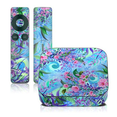 Apple TV 2G Skin - Lavender Flowers