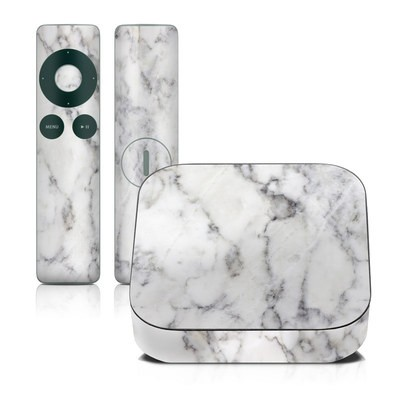 Apple TV 2G Skin - White Marble