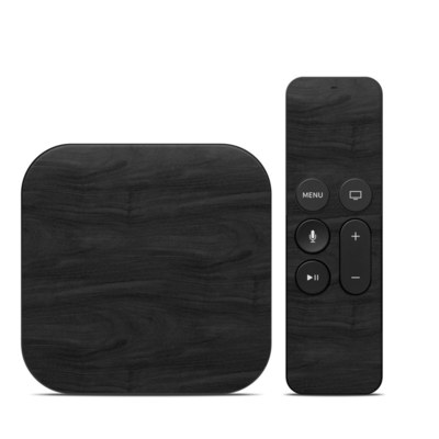 Apple TV 4th Gen Skin - Black Woodgrain