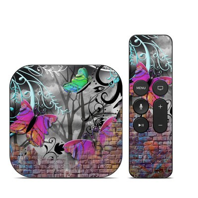 Apple TV 4th Gen Skin - Butterfly Wall