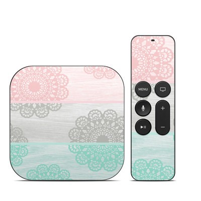 Apple TV 4th Gen Skin - Doily