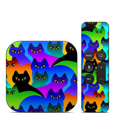 Apple TV 4th Gen Skin - Rainbow Cats