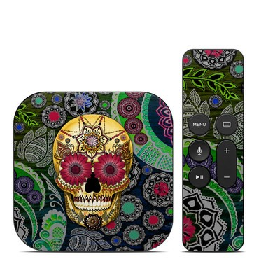 Apple TV 4th Gen Skin - Sugar Skull Paisley