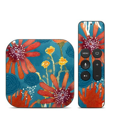 Apple TV 4th Gen Skin - Sunbaked Blooms