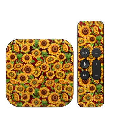 Apple TV 4th Gen Skin - Sunflower Patch