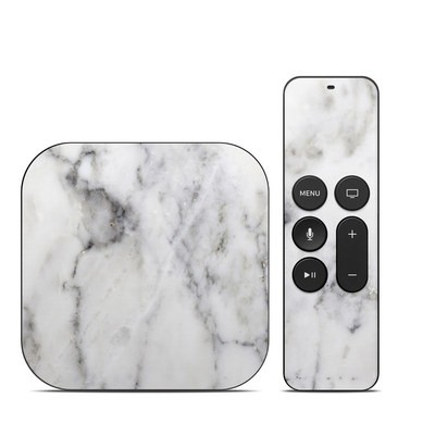 Apple TV 4th Gen Skin - White Marble