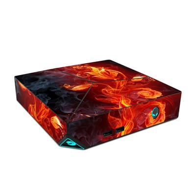 Alienware Steam Machine Skin - Flower Of Fire