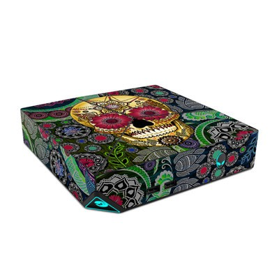 Alienware Steam Machine Skin - Sugar Skull Paisley