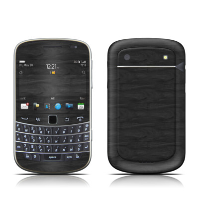 BlackBerry Bold 9930 Skin - Black Woodgrain