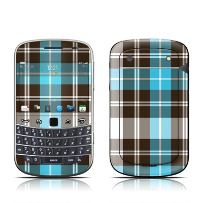 BlackBerry Bold 9930 Skin - Turquoise Plaid