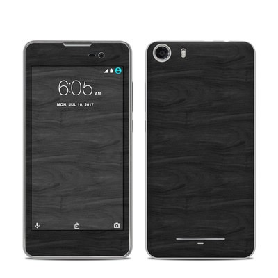 BLU Advance 5.0 Skin - Black Woodgrain