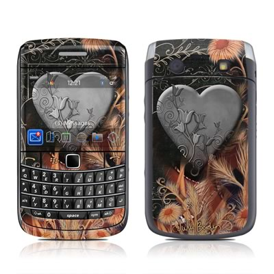 BlackBerry Bold 9700 Skin - Black Lace Flower