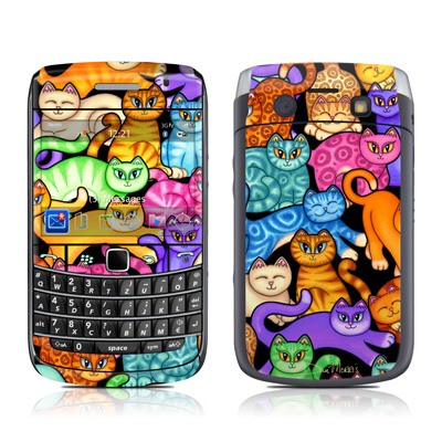 BlackBerry Bold 9700 Skin - Colorful Kittens