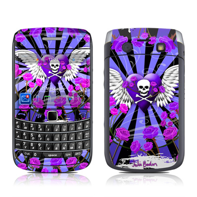 BlackBerry Bold 9700 Skin - Skull & Roses Purple