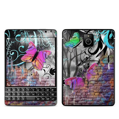 BlackBerry Passport Skin - Butterfly Wall