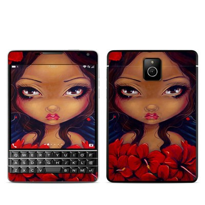 BlackBerry Passport Skin - Red Hibiscus Fairy