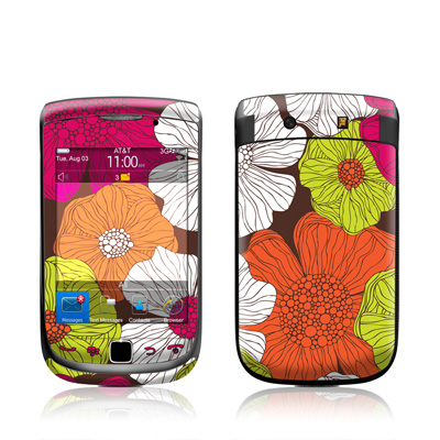 BlackBerry Torch Skin - Brown Flowers
