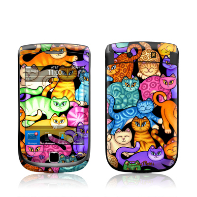 BlackBerry Torch Skin - Colorful Kittens