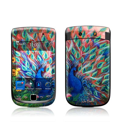 BlackBerry Torch Skin - Coral Peacock